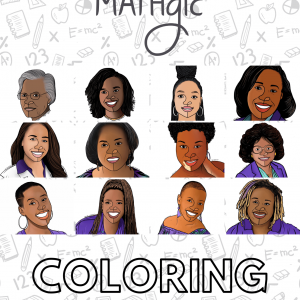 Black Girl MATHgic Coloring Book Cover