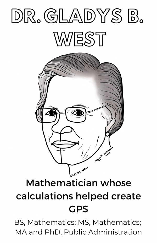 Picture of Dr. Gladys B. West, mathematican whose calculations helped create GPS
