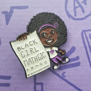 Lapel pin on purple box background