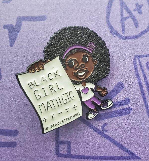 Lapel pin on purple box background